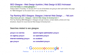 how we tryed to get ranked for seo glasgow screenshot